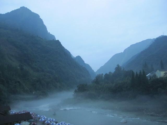 Hongkou, evening mist rising