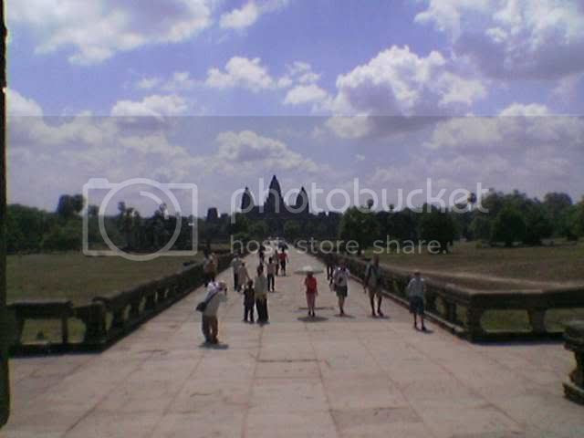 Camera Phone - Last glance at Angkor Wat