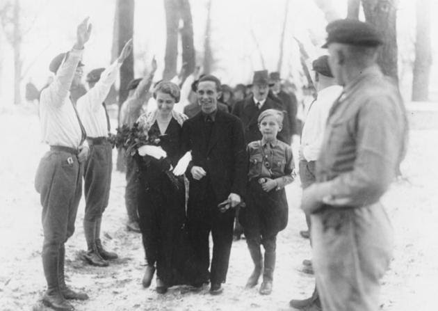 Goebbels Wedding (Hitler in the back)