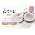Dove Purely Pampering Coconut Milk Beauty Bar Soap - 3.75oz/4ct