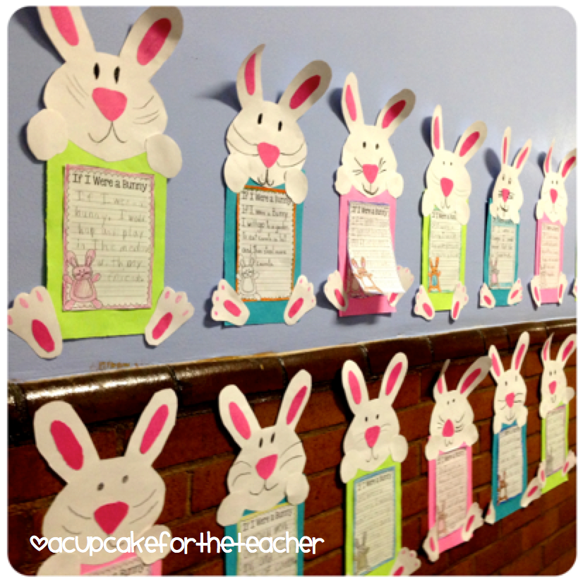 Classroom Ideas For Easter ~ If i were a bunny cupcake for the teacher