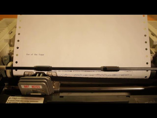 """Eye of the tiger"" on dot matrix printer"