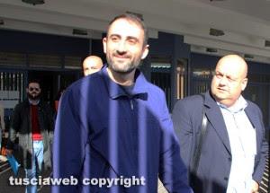 Tribunale di Viterbo - Raid allo stadio - Gli arrestati escono con gli avvocati