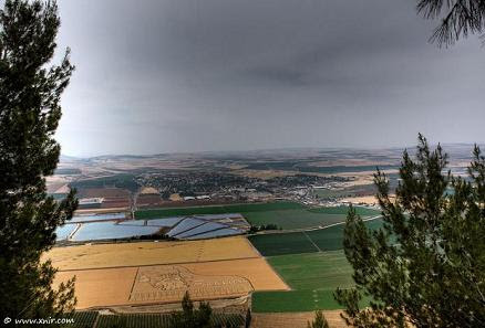Jezreel/Harod  Valley from the Gilboa