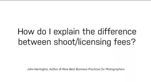 How to Educate Your Clients on Photo Shoot & License Fees