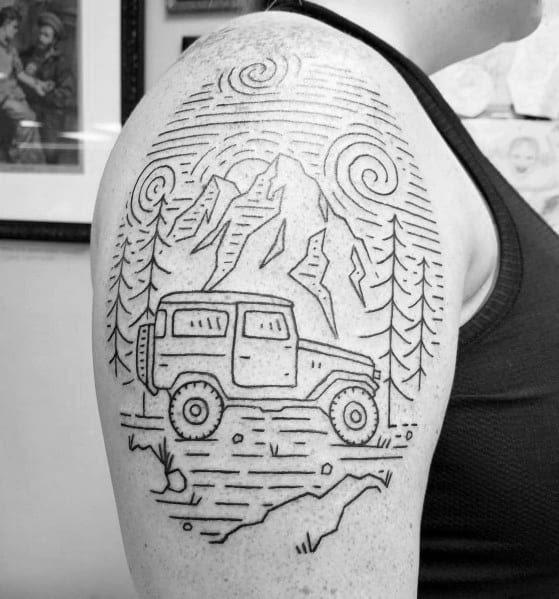 Idéias de tatuagem de jipe para homens