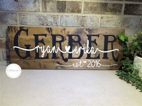 wooden wedding sign custom  sign personalized