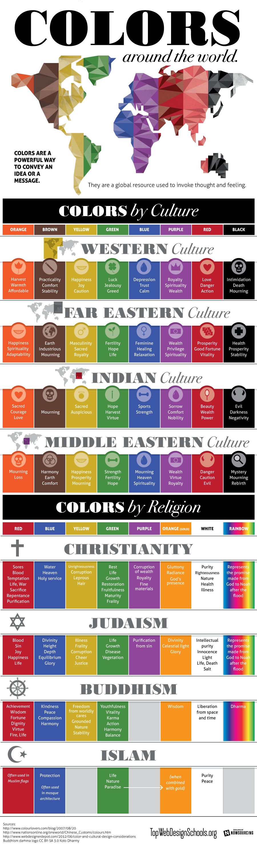 Infographic: Colors Around The World By Culture