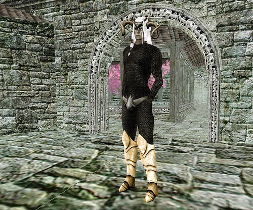 Elf in golden boots