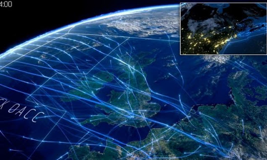 Beautiful video shows air travel across North Atlantic in a 24-hours