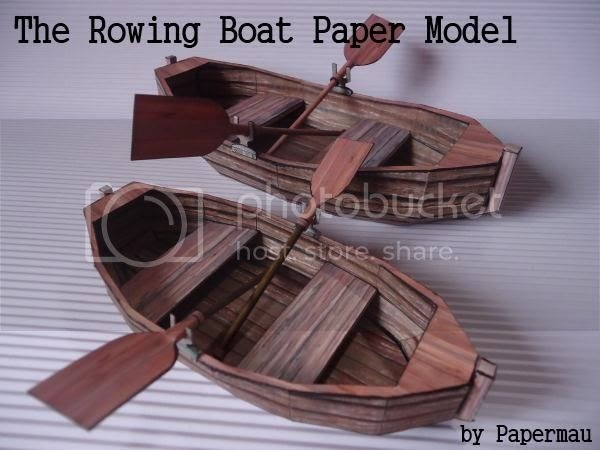 Papermau The Rowing Boat Paper Model By Papermau