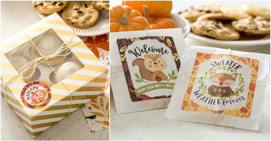 Easy autumn gifts for neighbors (free printables!) - Mod Podge Rocks