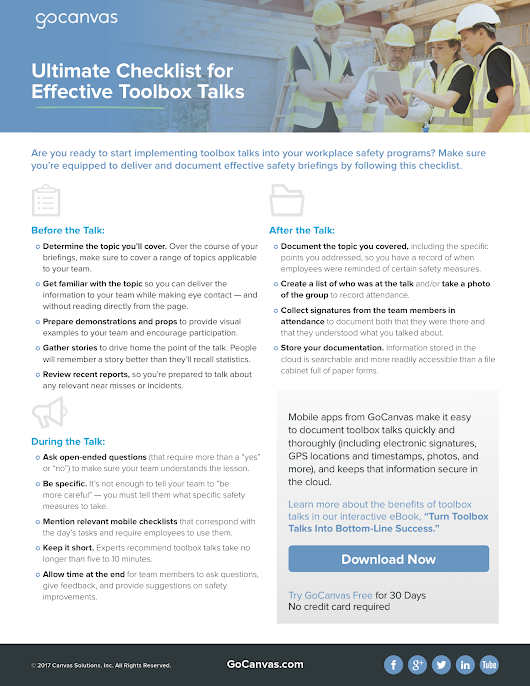 Ultimate Checklist for Effective Toolbox Talks
