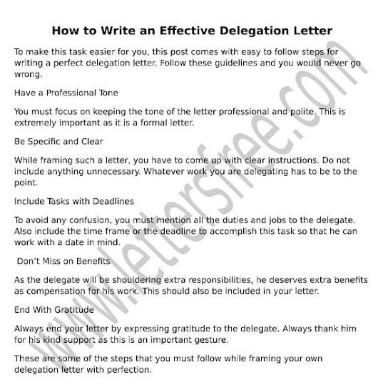 How to Write an Effective Delegation Letter