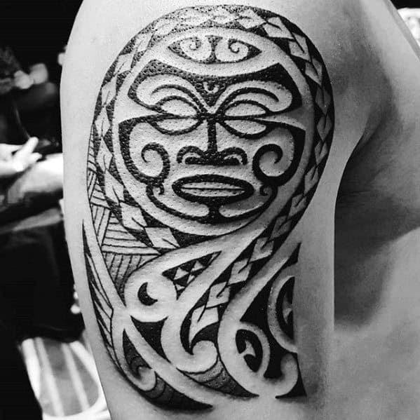 50 Polynesian Arm Tattoo Designs For Men Manly Tribal Ideas