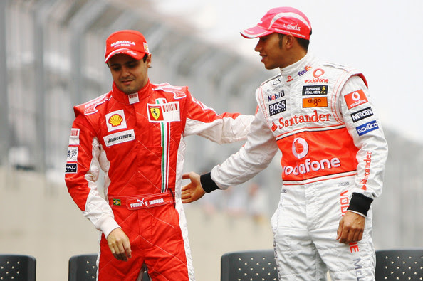 Lewis Hamilton and Felipe Massa - Brazilian F1 Grand Prix
