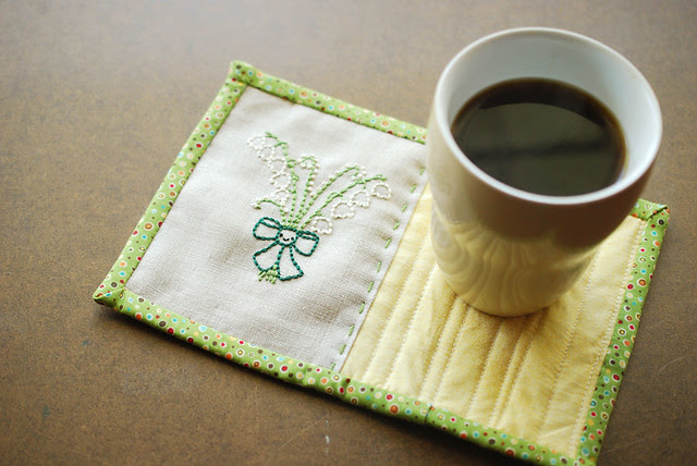 Lily of the Valley Mug Rug