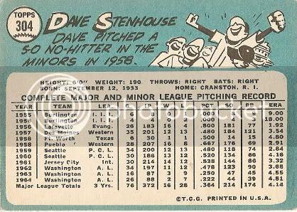 #304 Dave Stenhouse (back)