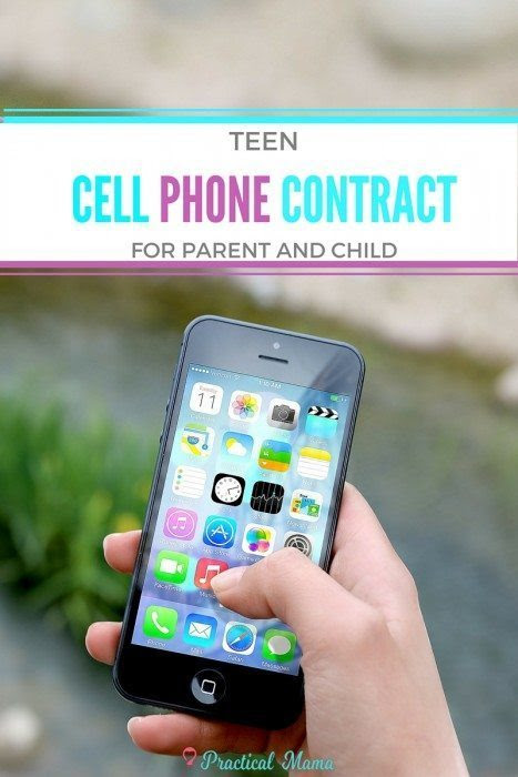 Teen cell phone contract - printable sample
