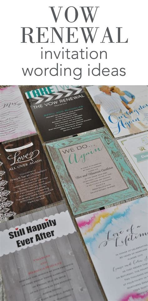 Vow Renewal Invitation Wording Ideas from Invitations by