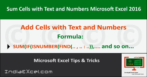 excel sum cells text numbers | sum if cell contains number | excel if cell contains text then | sum if cell contains any tex