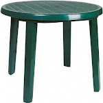Siesta ISP125-GRE 35.5 in. Ronda Resin Round Dining Table Green
