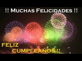 Felicitaciones De Cumpleanos Con Movimiento Gratis De Fuegos