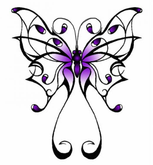 Purple Butterfly Drawing At Getdrawingscom Free For Personal Use