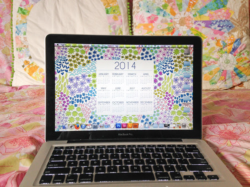 Dreamin Vintage 2014 Desktop Calender Cool by Jeni Baker
