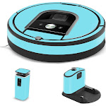 MightySkins IRRO960-Solid Baby Blue Skin for iRobot Roomba 960 Robot Vacuum Solid Baby Blue