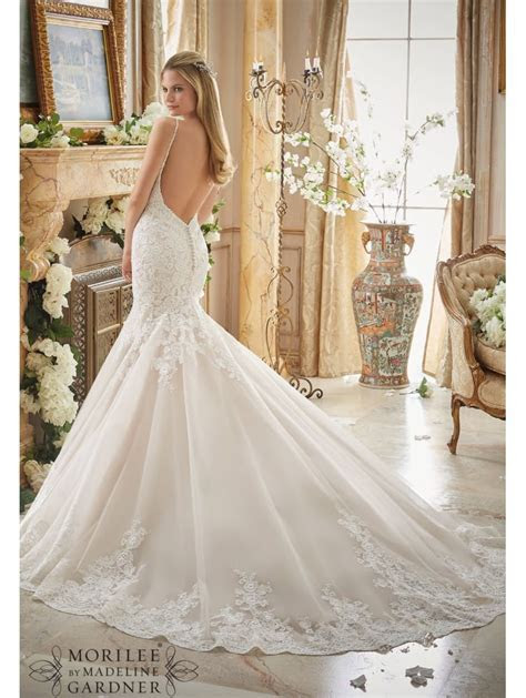 Mori Lee 2871 Low Back Romantic Lace Fit And Flare