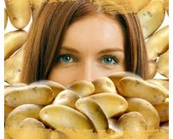 Folk remedies for face masks, under the eyes of the potato