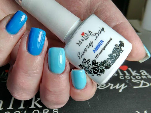 Blue manicure cu oje semipermanente Every Day Malika Colors, review
