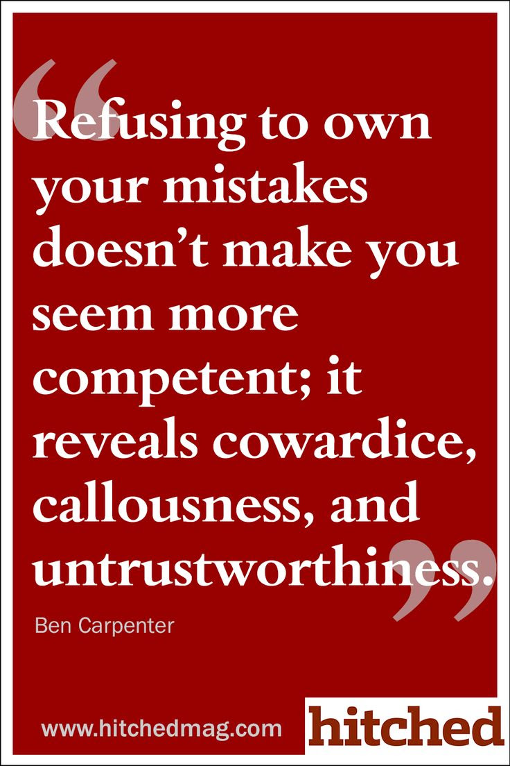 Quotes About Accepting Your Mistakes 45 Quotes