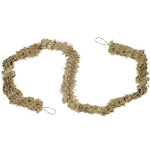 7.75' Decorative Natural Jute Bow Christmas Garland - Unlit by Christmas Central