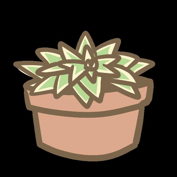 多肉植物9のイラスト かわいいフリー素材が無料のイラストレイン