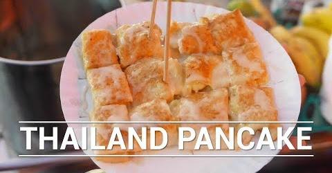 Cách làm bánh pancake chuối kiểu Thái Ẩm thực đường phố Thái Lan