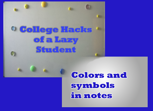 Colors and symbols in notes