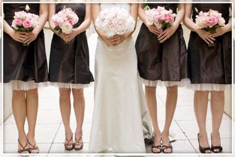 Wedding Color Inspiration: Pale Pink and Chocolate Brown