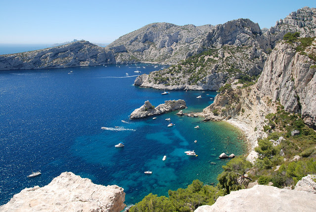 The calanques near Marseille