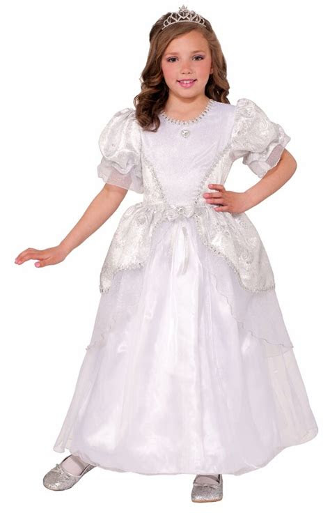 deluxe princess pearl costume fancy dress white wedding
