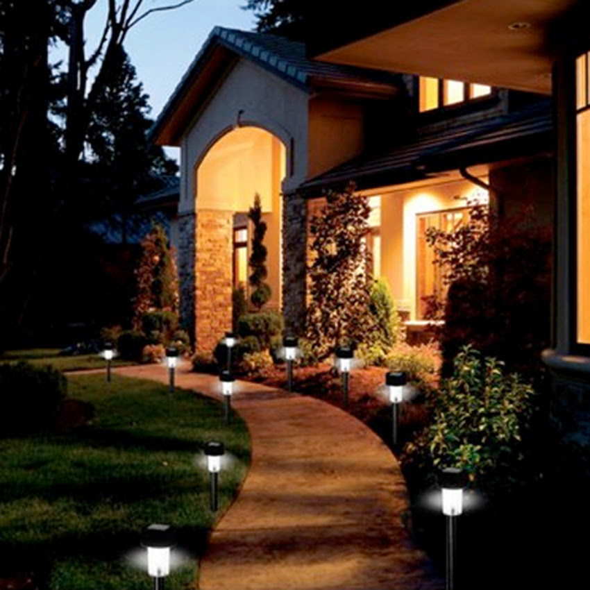 New 24pcs Led Outdoor Garden Path Lighting Landscape Solar Light Wh002339  Buy Garden Light