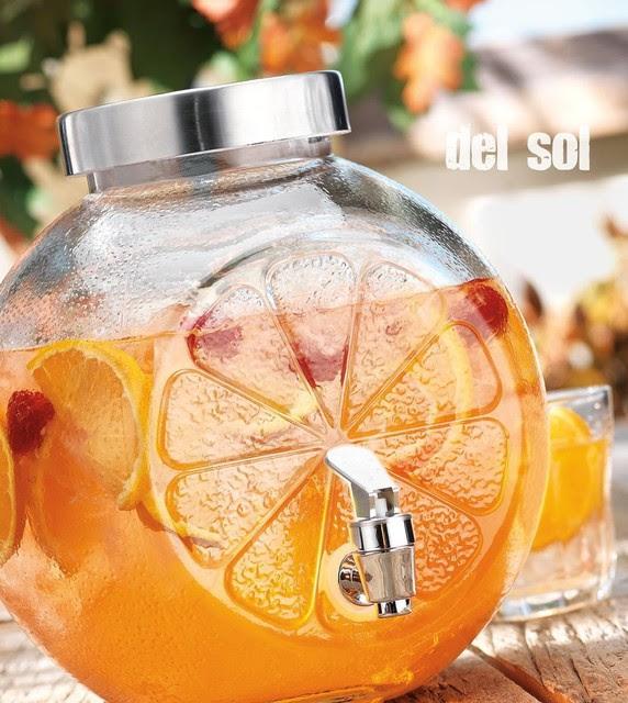 Del Sol Lemon Shape Cold Beverage Dispenser, 1.25 Gal, Kitchen