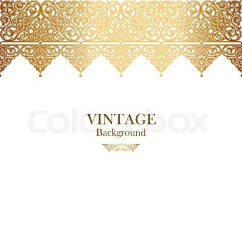 Vintage vector card in islamic style, seamless lace