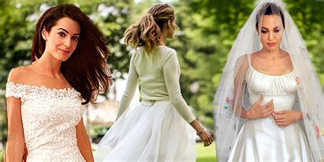 The eight best celebrity wedding dresses of 2014