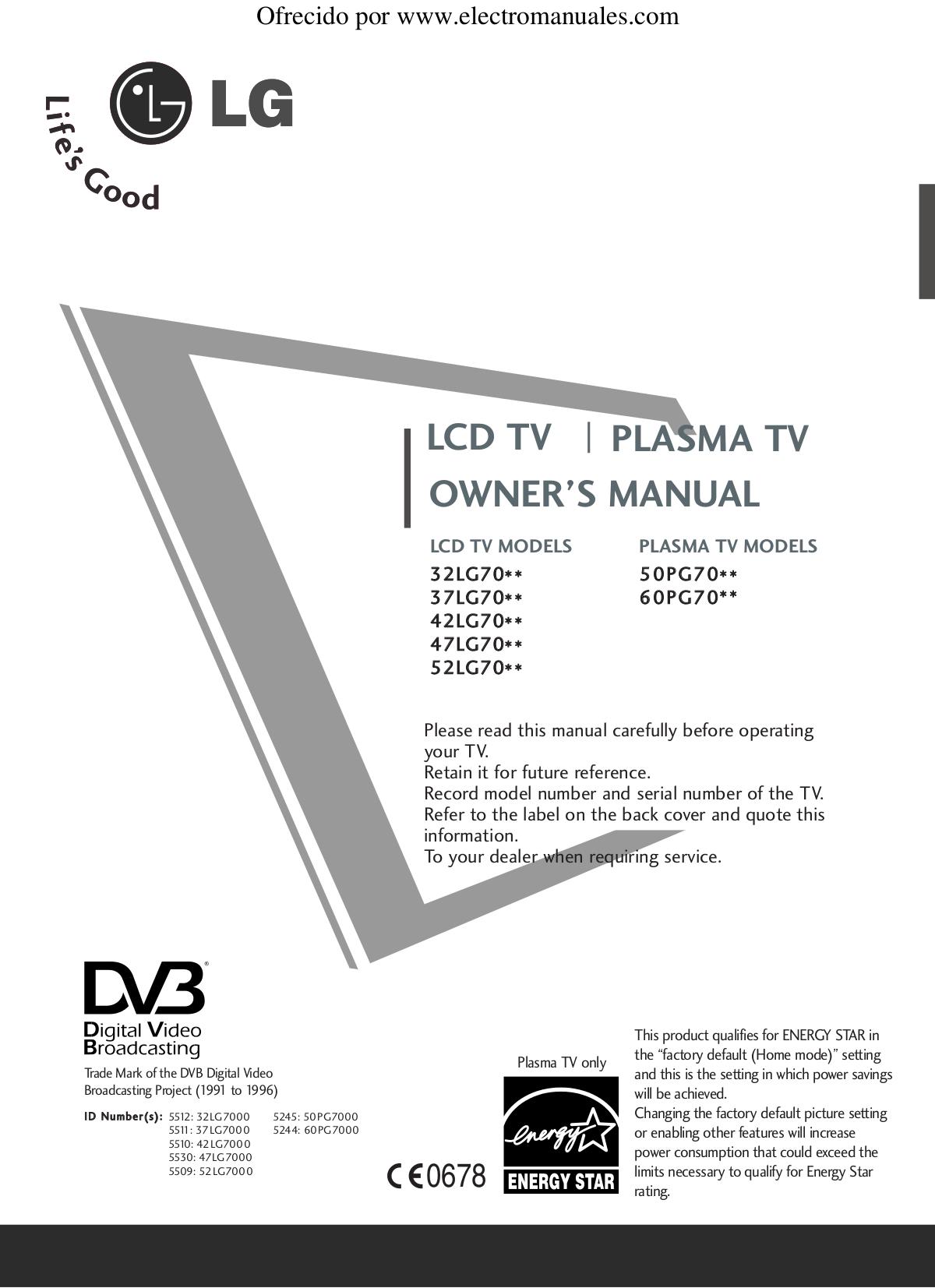 Bedienungsanleitungen Lg Tv