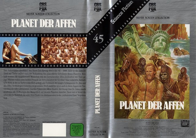 Planet Of The Apes (VHS Box Art)