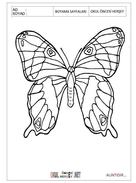 kelebek boyama resmi indir coloring   print