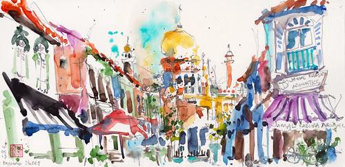 Sketching Sultan Mosque @ Baghdad Street by PaulArtSG