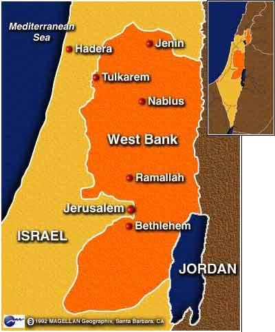 Il West Bank, in precedenza Giudea e Samaria